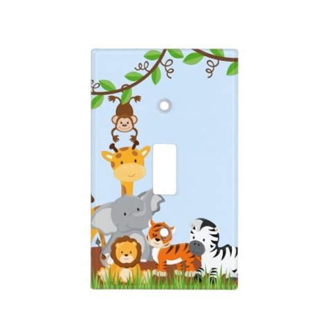 cute light switch covers blue cute jungle baby animals light switch cover door