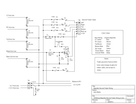 wiring diagram for trailer lights and brakes wiring