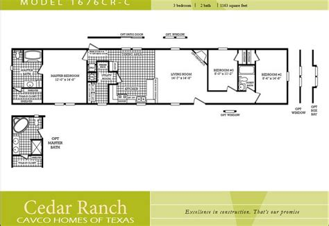 2 bedroom single wide floor plans scotbilt mobile home floor plans singelwide cavco homes