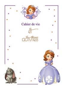 couverture cahier de vie princesse sofia le