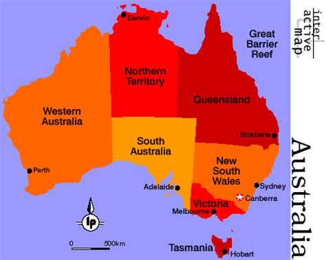 map of australia by state australia map states