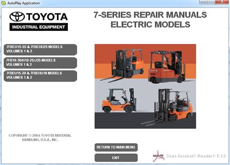 Toyota Repair Manual Toyota Forklift 7 Series Repair Manuals