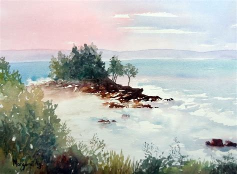watercolor tutorial seascape painting mood how to change it with color