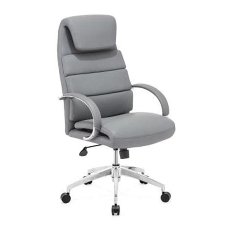 zuo lider comfort gray office chair 205317 the home depot