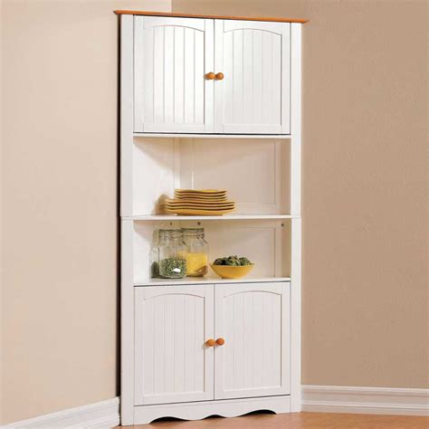 White Corner Kitchen Cabinet by 13 Corner Kitchen Cabinet Ideas To Optimize Your Kitchen