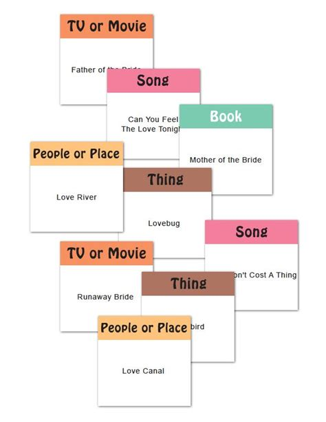 printable bridal shower charades 83 best images about valentine s day on pinterest