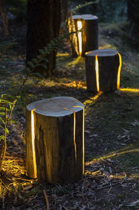 diy backyard lighting stump diy garden path lighting