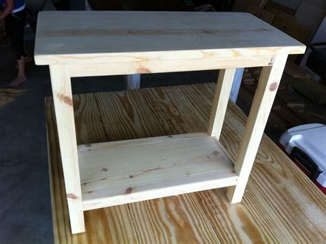 Diy Side Table by Simple End Table Plans Woodideas