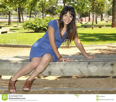 girls bench young girl on park bench stock image image 20446061