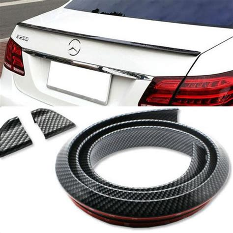 Bumper Samurai Glow In The auto rear wing spoiler with adhesive for universal high quality carbon fiber