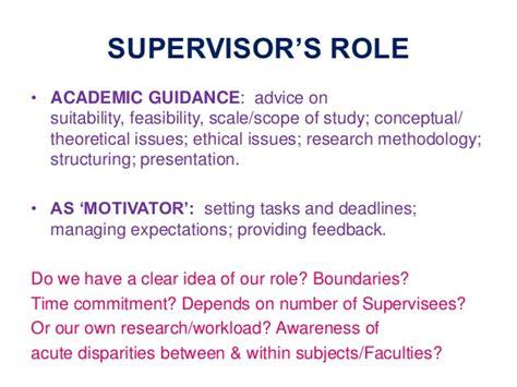 dissertation supervisor problems 18th october chep df slides undergraduate dissertation