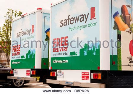 safeway home delivery trucks stock photo royalty free