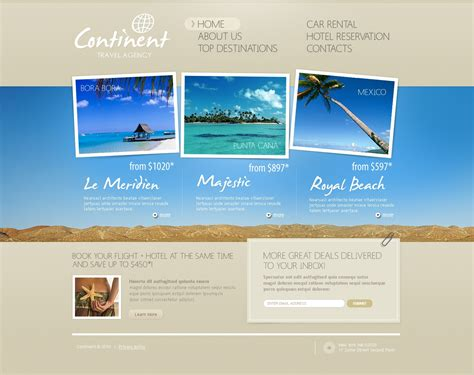 Travel Agency Template Travel Agency Website Template 31402