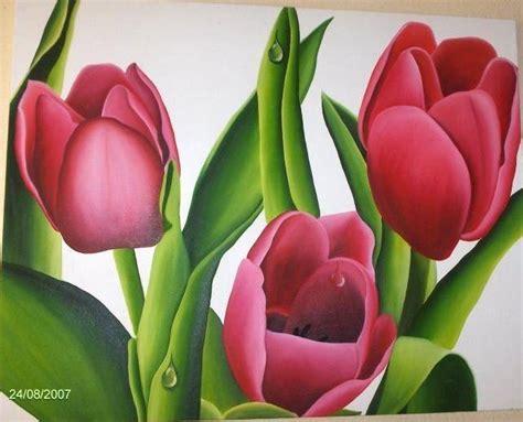 cuadros tulipanes tulipanes al oleo imagui