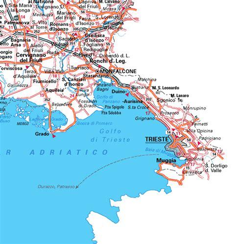 map of trieste italy city map trieste mapsof net