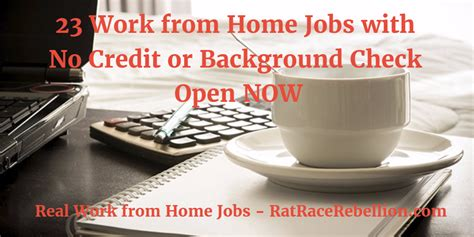 Work From Home No Background Check 23 Work From Home With No Credit Check Or Background Check Open Now Real Work