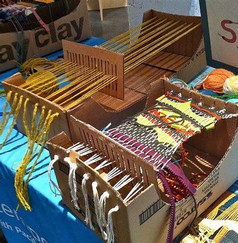 Cardboard looms and Vacation Weaving   the photogenic lifestyle of cynthia korzekwa