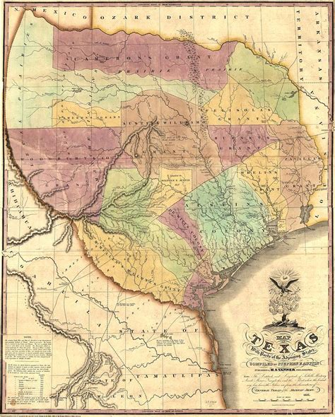 map of the republic of texas 1837 map of the republic of texas painting by unknown