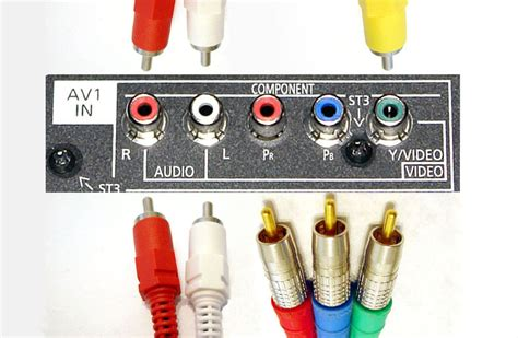 Cable Connection Dvd Component 2m Kabel Rca Kabel Av 2 Meter shared composite component input connections