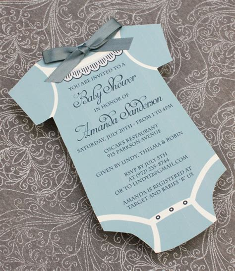 baby shower invitation template boys onsie download print