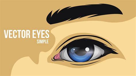 illustrator tutorial eyes how to create a simple eye vector face drawing