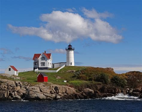 Nubble Light by Nubble Lighthouse A Photo From Maine Northeast Trekearth