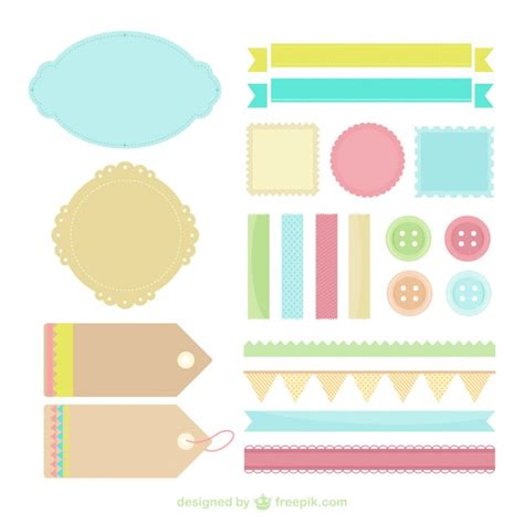 layout para blog gratis vintage etiquetas en colores pastel descargar vectores gratis