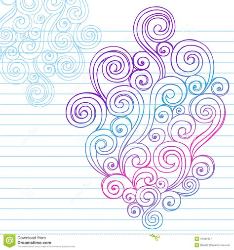 how to draw doodle swirls abstract sketchy swirl doodles stock