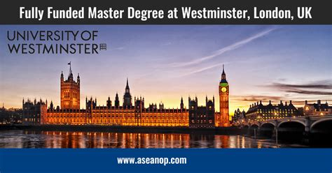 Westminster International College Mba by Fully Funded Master Degree At Westminster