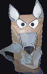 wolf puppet template paper bag wolf puppet