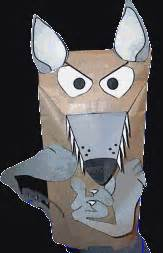 wolf puppet template desert animal crafts for