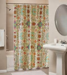 Spice Colored Curtains Decor Trending In Bathroom Decor Bohemian Shower Curtains Rotator Rod