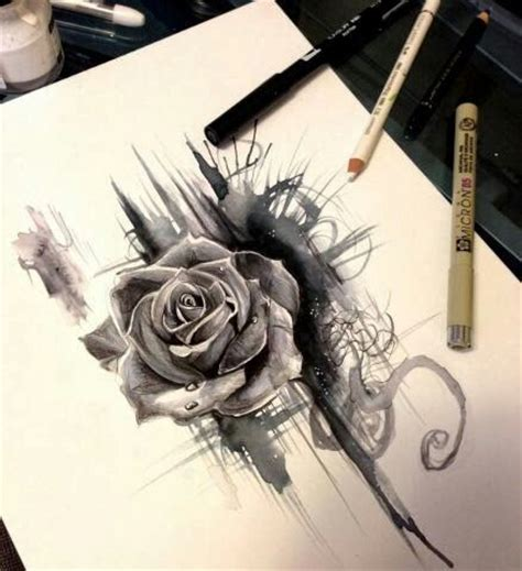 tattoo pen rose pen and ink rose art pins pinterest pen and ink