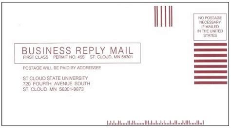business reply mail template tips templates and forms st cloud state