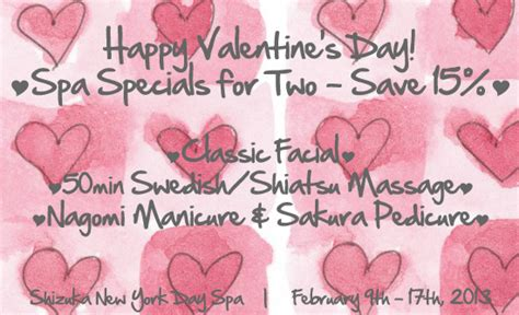 valentines spa breaks new york valentines day spa specials i valentines day spa