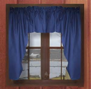 Blue Swag Curtains Solid Royal Blue Swag Window Valance