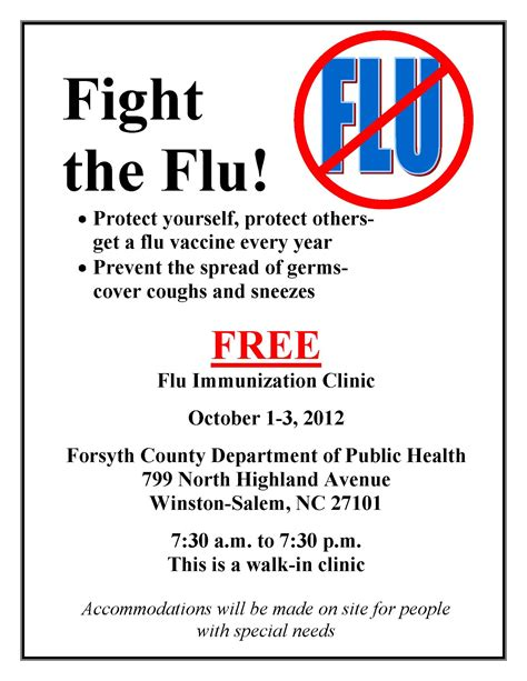 flu shot flyer templates www pixshark com images