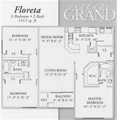 vintage floor plans apartment floorplans for vintage grand in sarasota ta