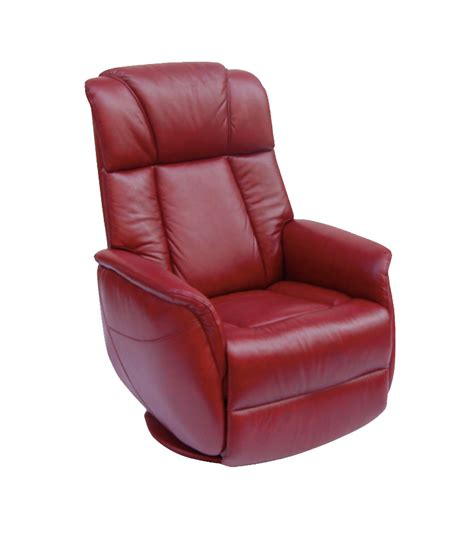 Leather Swivel Recliners by Gfa Sorrento Electric Swivel Rocker Ruby Leather Recliner