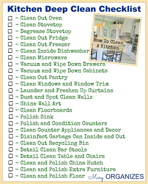 deep cleaning the gallery for gt restaurant kitchen cleaning checklist
