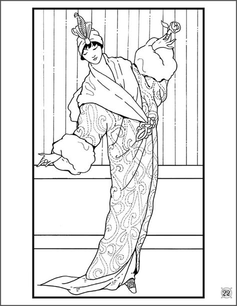 coloring book for fashion fashion designs 1912 1913 coloring book