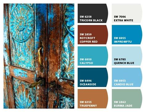 copper color combinations blue rust color palette home pinterest rust color