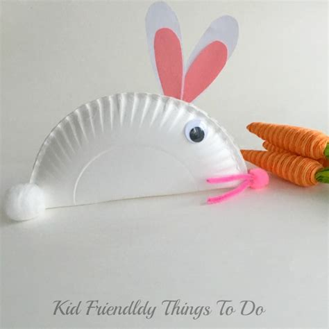 Paper Plate Bunny Craft - and easy paper plate bunny craft for