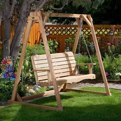 build   porch swing stand woodworking projects