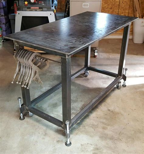 diy welded table legs pin by michael swallers on welding tables shop ideas metals and garage workshop