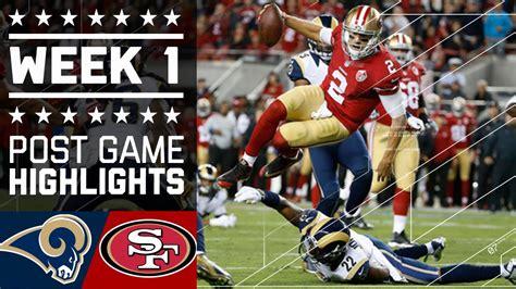 rams and 49ers rams vs 49ers nfl week 1 highlights