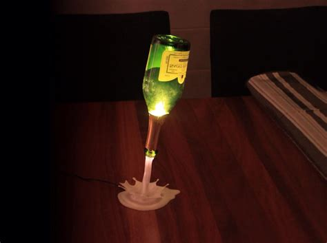 Wine Bottles With Lights Support Pour Lampe Fontaine De Champagne Imprim 233 En 3d