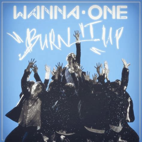 one x album wanna one burn it up to be one 1x1 1 album cover by