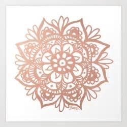 rose gold mandala art print julie erin designs society6