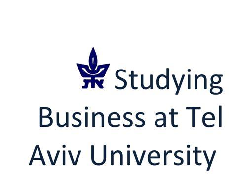 Tel Aviv Sofaer Mba by Powerpoint Presentation For Sofaer Students On Exchange